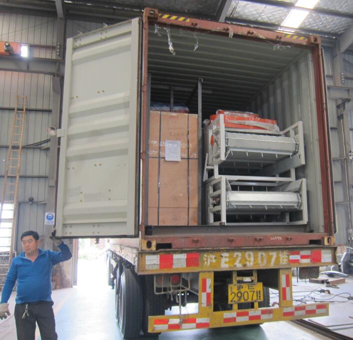 pellet machine shipped to India