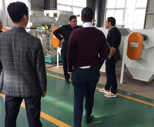 Iran client visit us for crab feed mill plant