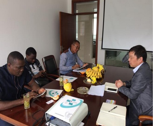 African clients visit us for feed pellet production line